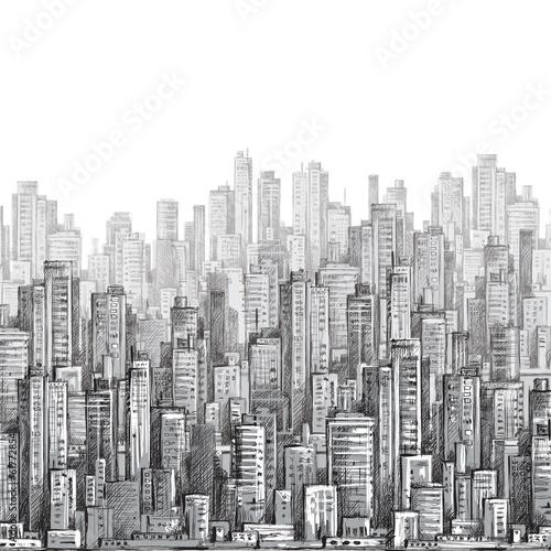 krajobraz-miasta-recznie-rysowane-wektor