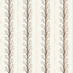 FototapetaSeamless pattern with a watercolor tree illustration
