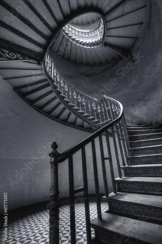 Photo Stands Stairs Stare spiralne schody