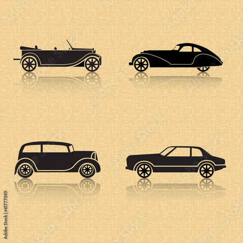 фотография  vintage car on a brown background
