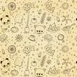 cute sketch pattern