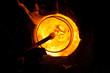 Leinwanddruck Bild - Glass blowing process