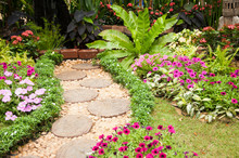 Stone Paved Garden Path With A...
