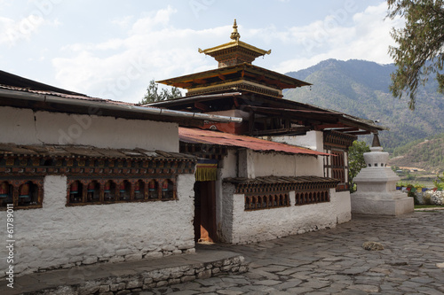 Kyichu Lhakhang temple in Paro Valley, Bhutan