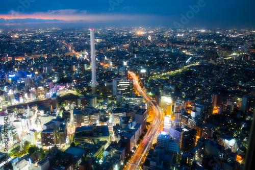 Tuinposter Tokyo 東京の夜景