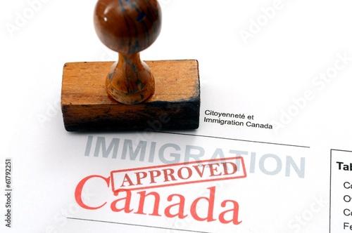Spoed Foto op Canvas Canada Immigration Canada