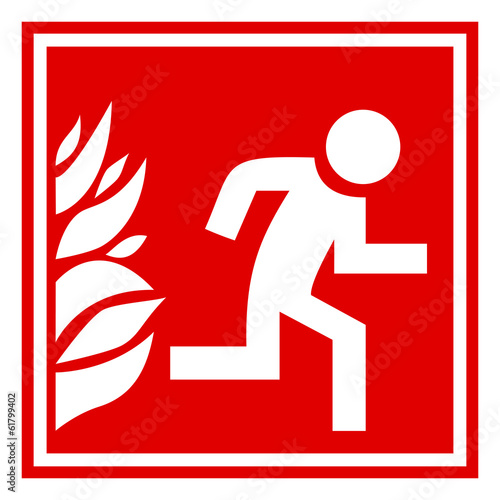 Fire evacuation sign Wall mural
