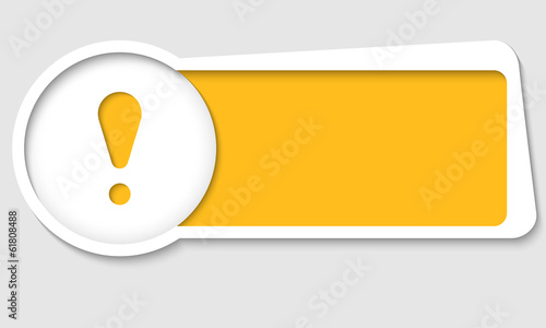 Obraz vector text box for insertion text with exclamation mark - fototapety do salonu