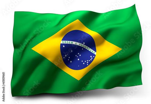 Fotografie, Obraz  flag of Brazil