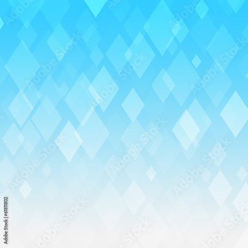 Wall mural - Abstract blue gradient rhombus background