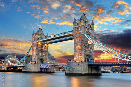 Spoed Foto op Canvas Londen Tower Bridge in London, UK
