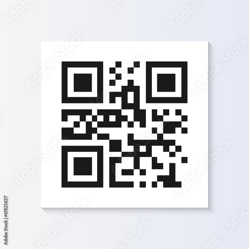 Fotografie, Obraz  QR Code Tag Illustration