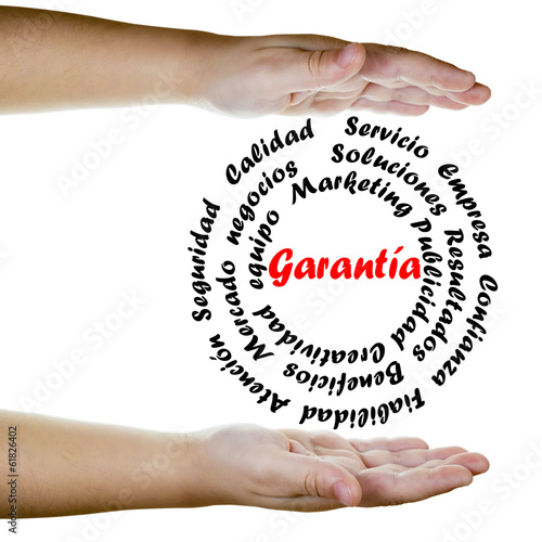 Fotografie, Obraz  Garantía y conceptos de la empresa actual en acción