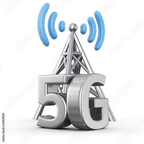 Billede på lærred 5G transmitter