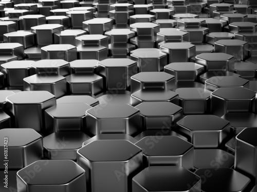 blyszczace-szesciokatne-metalowe-paski-tle