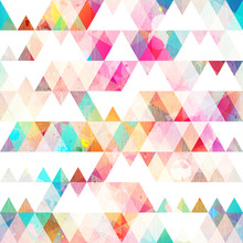 Rainbow Triangle Seamless Patt...