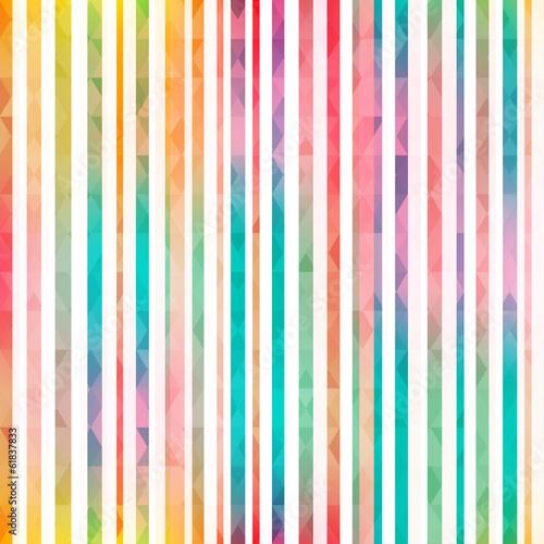 Cotton fabric rainbow stripes seamless pattern