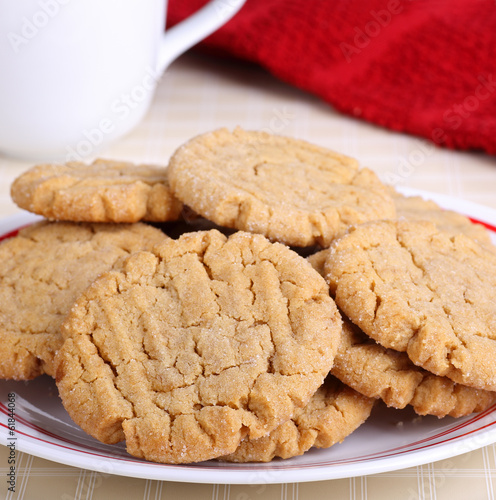 Photo  Plate of Peanut Butter Cookies