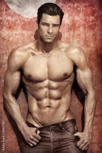 Fotografie, Obraz  Sexy male model