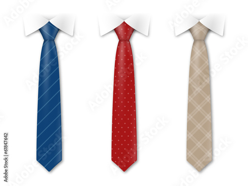 Fotografie, Obraz  Cravates vectorielles 1