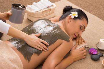 Panel SzklanyGreen Clay Treatment At Spa