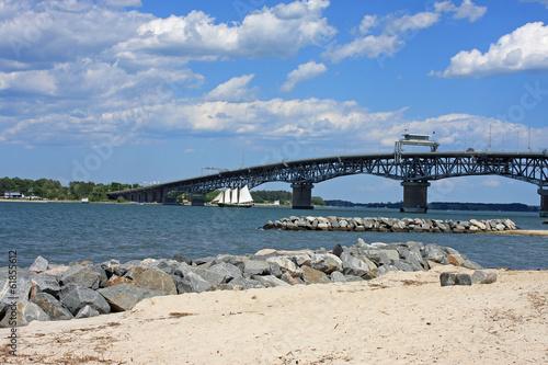 Obraz na plátně Coleman Memorial Bridge, Yorktown