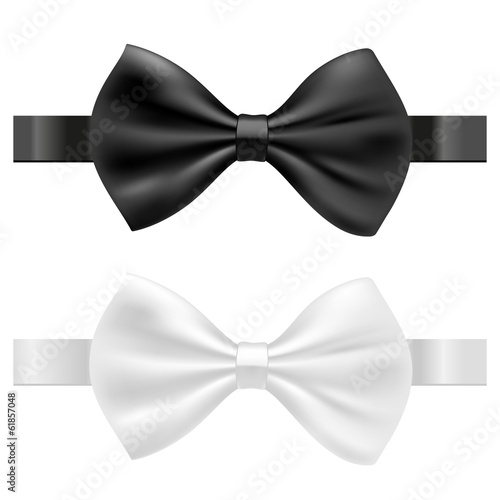 Fotografia  black and white bow tie