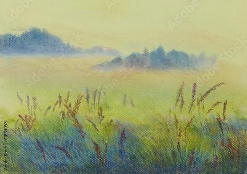 pastel landscape - 61864058