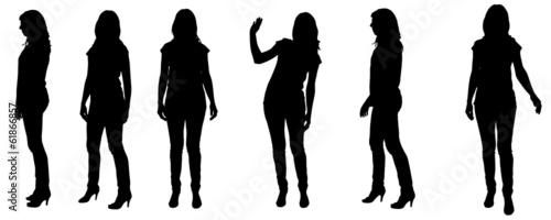 Obraz Vector silhouette of a woman. - fototapety do salonu