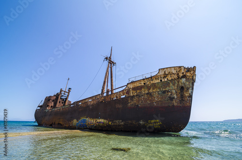 Foto op Plexiglas Schipbreuk Dimitrios shipwreck