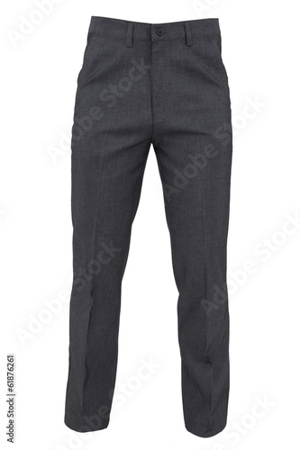 Photo trousers for men isolated on a white background