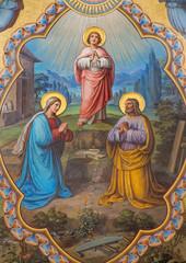 Fototapeta Do kościoła Vienna - Holy Family fresco - presbytery of Carmelites church