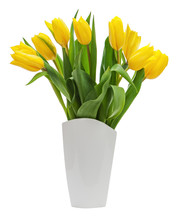 Flower Bouquet From Yellow Tul...