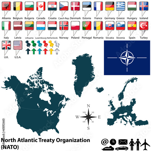 Photo  Map on NATO