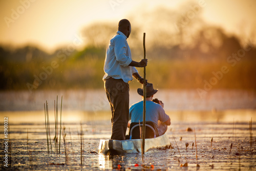 Deurstickers Afrika Evening in The Reeds