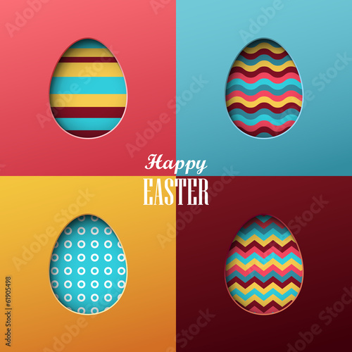 Photo  Bright vector easter background