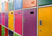 Colorful School Lockers
