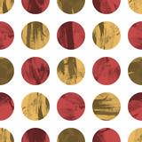Retro geometric seamless pattern with circles - 61917837