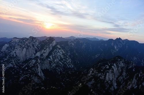 Papiers peints Xian sunrise at mountain huashan in china