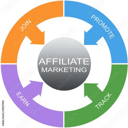 Affiliate Marketing Word Circles Concept Canvas Print