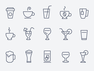 Fototapeta drink icons
