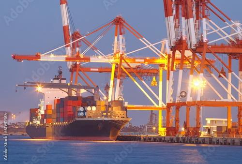 Poster Antwerpen Container Cargo freight ship