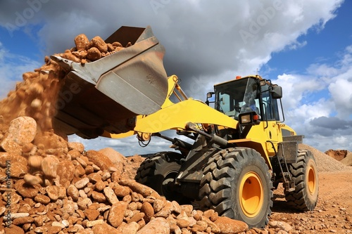 Obraz Front End Loader Tipping Stone - fototapety do salonu