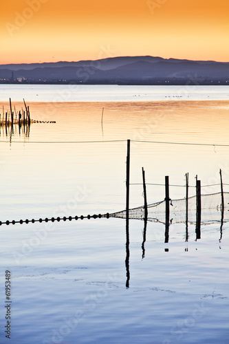 paisaje vertical del un lago Plakat