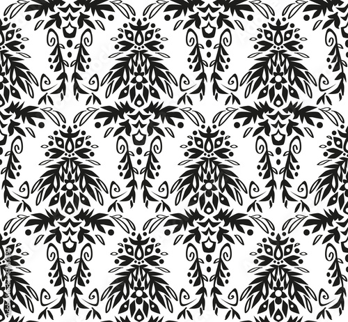 Black And White Vintage Wallpaper Buy This Stock Vector And