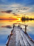 Fototapeta Fototapety z naturą - la tranquilidad de un amanecer
