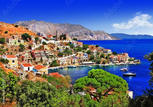 Fototapety, obrazy: beautiful Greek islands - Symi, Dodecanese