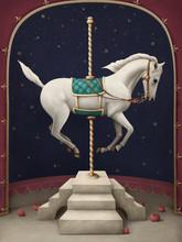 White Circus Horse.