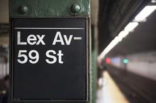 New York City Subway Sign, Lexington Avenue
