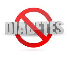 No Diabetes Sign Illustration ...